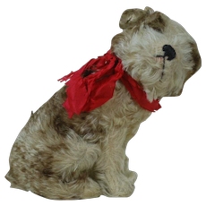 Steiff 1920's Plush Dog Molly