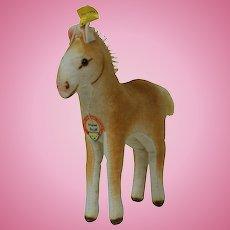 """1950's Steiff 6"""" Velveteen Horse"""