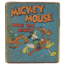 1934 Walt Disney Micky Mouse Wins the Race Mini Book