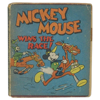 1934 Walt Disney Micky Mouse Wins the Race Mini Book