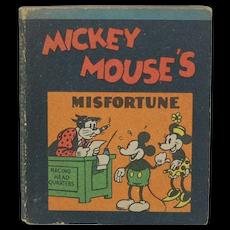 1934 Walt Disney Micky Mouse's Misfortune Mini Book