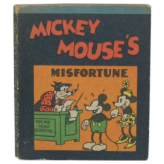 1934 Walt Disney Micky Mouse's Misfortune Mini Book