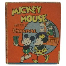 1934 Walt Disney Micky Mouse at the Carnival Mini Book