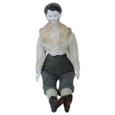 1850's Large Sized China/Cloth Doll Boy