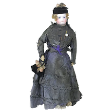 1870's-1880's  Large French Fashion Barrois Doll