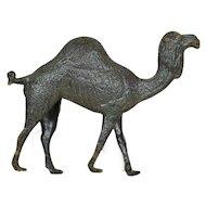 1900's Dresden Silver Camel Ornament