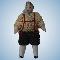 1910's Carl Horn German Bisque Miniature Doll Lad