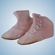1910's-1920's Marshal Field & Co. Pink Leather Booties