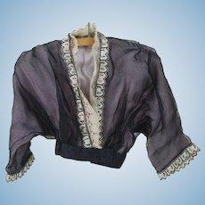 1890's French Fashion Lavender Blouse