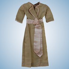 1900's Light Wool Day Dress For Doll