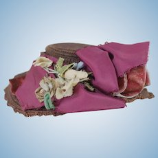 1890's Woven Cloth Doll Hat