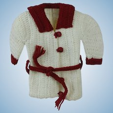 1920's Knitted Wool Doll Winter Set