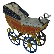 1900's Pram Doll Penny Toy Carriage