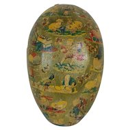 1900's-1920's Large Dresden Lined Easter Egg