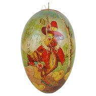 1900's Large Lithographed Easter Egg