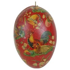 1900's Dresden Trimmed and Lithographed Easter Egg