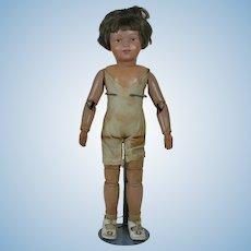 1910's Schoenhut 308 Wooden Doll with Jumper
