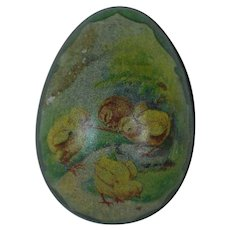 1890's-1900's German Tin Easter Egg with Lithograph Chicks