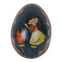 1890's-1900's German Small Tin Easter Egg