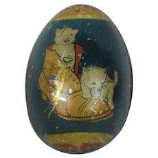 Small 1890's-1900's German Tin Easter Egg