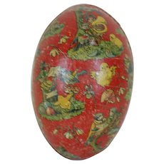 1910's German Dresden Trimmed Easter Egg