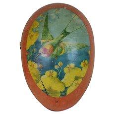 1910's Huge German Gold Dresden Trimmed Easter Egg