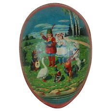 1910's Huge Dresden Trimmed German Easter Egg