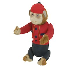 1920's Schuco Yes/No Bellhop Monkey Plush