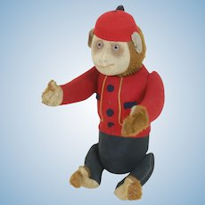 1920's Schuco Yes/No Bellhop Monkey Plush