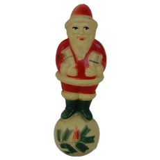 1920's American Viscoloid Santa on Christmas Ball (2)
