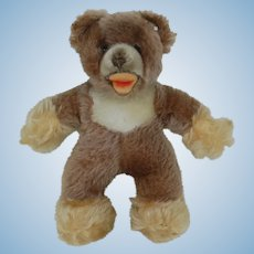 1960's Steiff Unjointed Teddy with Squeaker