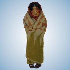 1920's-30's M.F. Woods Native American Wood Doll