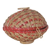 1920's Wicker Egg Container