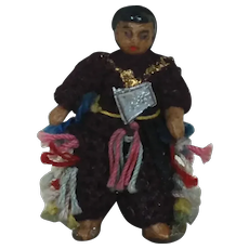 Carl Horn German Bisque Miniature Doll with Axe