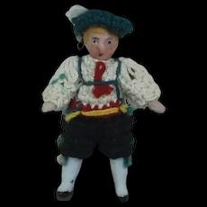 Carl Horn German Bisque Miniature Doll in German Clothing