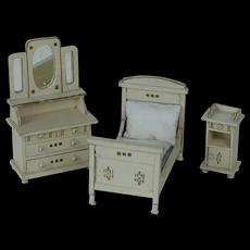1910's-1920's Gottschalk Bedroom Doll Set