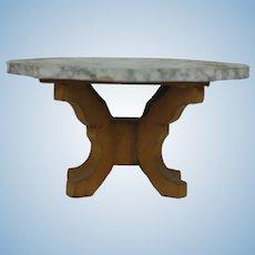 1900's Biedermeier Dollhouse Marble Table