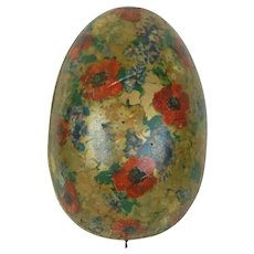 1910's Large German Easter Egg with Gold Dresden Trim