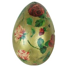 1910's Large German Easter Egg with Dutch Cottage Candies Label