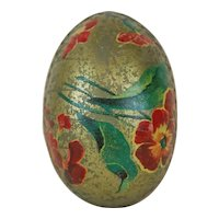 Small 1910's German Easter Egg with Gold Dresden Trim
