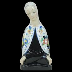 1920's Lanci Art Deco Madonna Porcelain Figure Signed