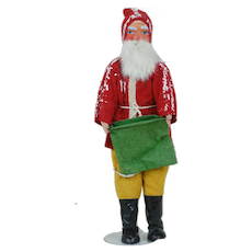1920's German Santa Paper Mach'e Head and Cloth Body