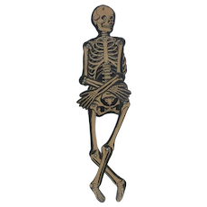 1930's Beistle Die-Cut Jumping-Jack Skeleton