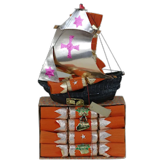 1930's-40's Pascall Holiday Cracker Boat