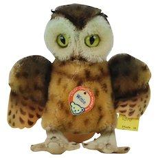 "1950's Steiff ""Wittie"" Plush Owl"