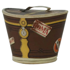 1900's-1910's German Lithographed Candy Container Hatbox