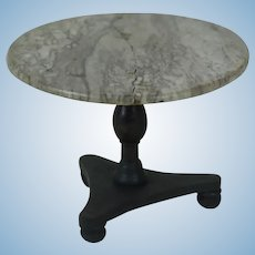 Large Turn of the Century Marble Round Top Table