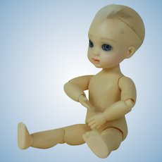 1900's Ball Jointed Plastic Vinyl Miniature Baby Doll