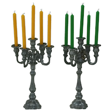 Pair of 1920's Miniature Candelabras for Dollhouse