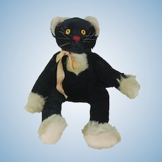 Rare 1950's Steiff Dangling Black Cat Kalac